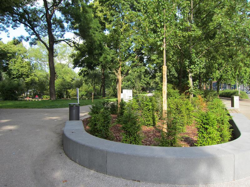 Beeteinfassung Beton berliner gartentisch für erhalt öffentlichen grüns in berlin